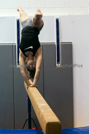 Gymnastics Beam & Bar Practice 1/19/16