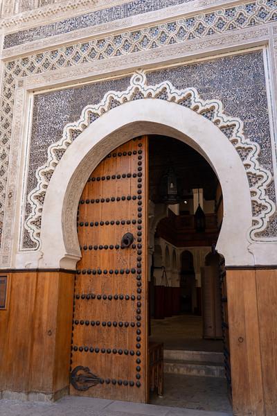 Funduq al-Najjariyyin door in Fes