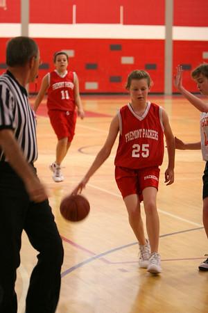 Middle School Girls Basketball 8B - 2009-2010 - 10/12/2009 Grant