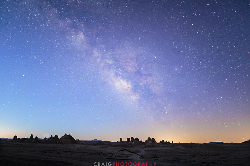 Milky Way over Trona Pinnacles California