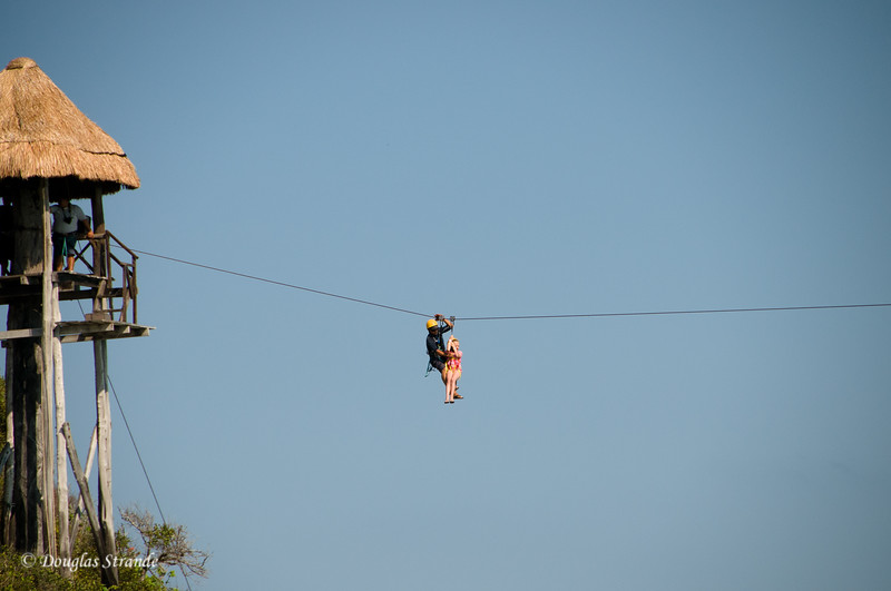 Sophia on the zipline