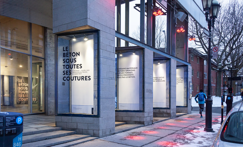 Le béton sous toutes ses coutures_Exposition_CENTRE DE DESIGN DE L'UQAM_2020_© Michel Brunelle