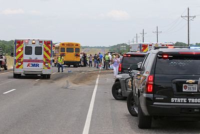 Farmersville TX. School bus accident Hwy. 380 6/7/18