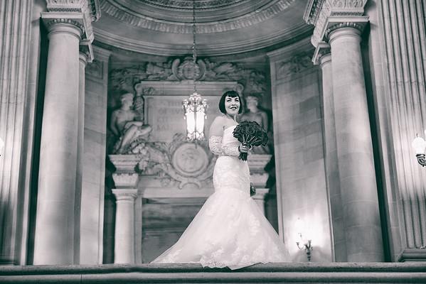 Carolyn And Larry SF City Hall Wedding