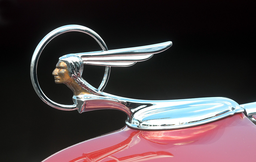. The hood ornament on a 1934 Pontiac on display during the 2013 Woodward Dream Cruise, Saturday August 17, 2013. (Oakland Press Photo:Vaughn Gurganian)