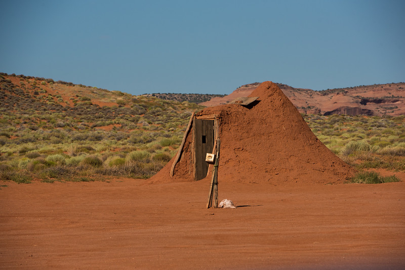 Clay house in Monument Valley