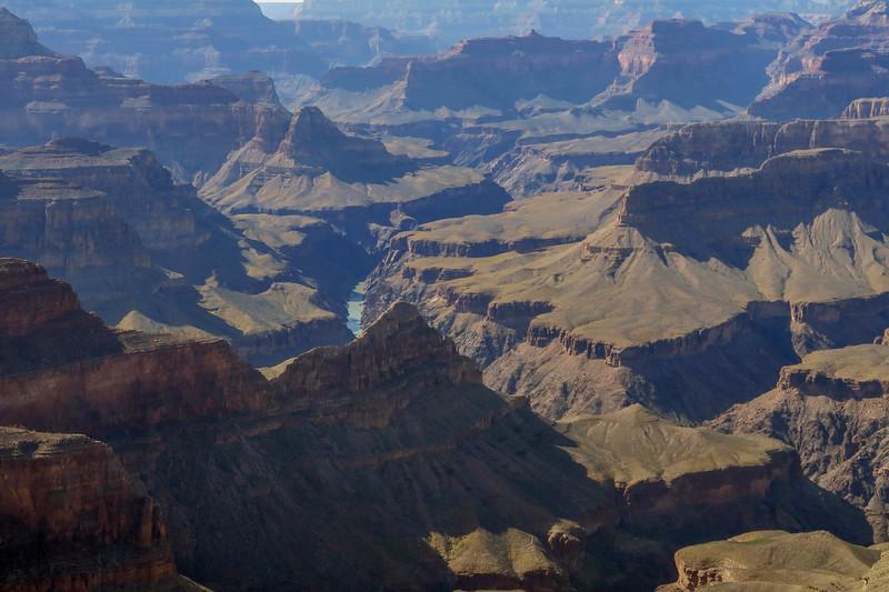 Grand Canyon National Park - Rim Trail  (2.1 miles; d=2.50)