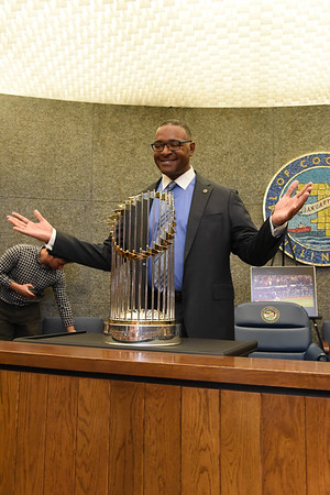 Cubs World Series Trophy at Cook County