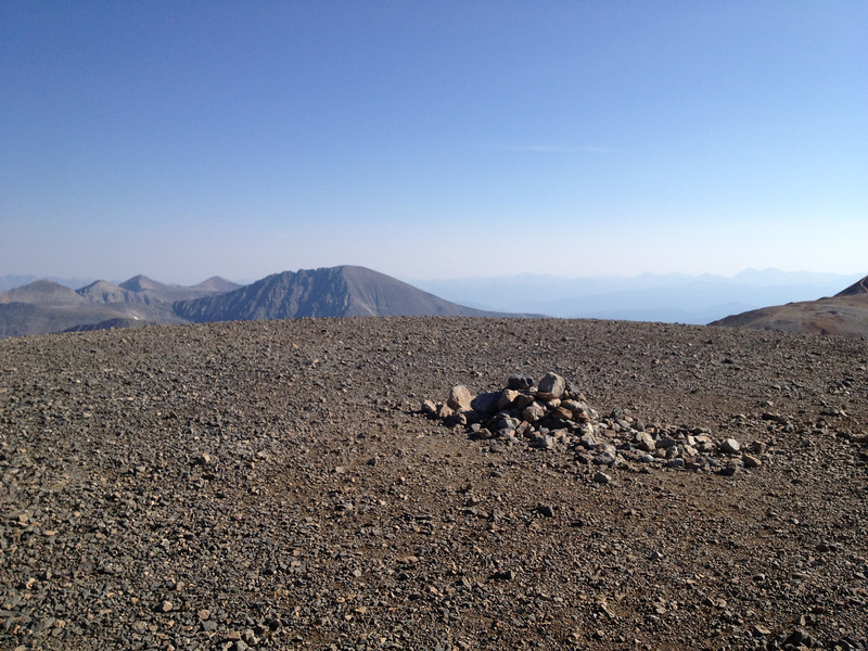 This is it - Mt Cameron (14,238) at 9:00. .. Note Quandary Pk (14,265') in background.