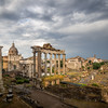 Rainclouds above the Roman Forum, Rome, Italy