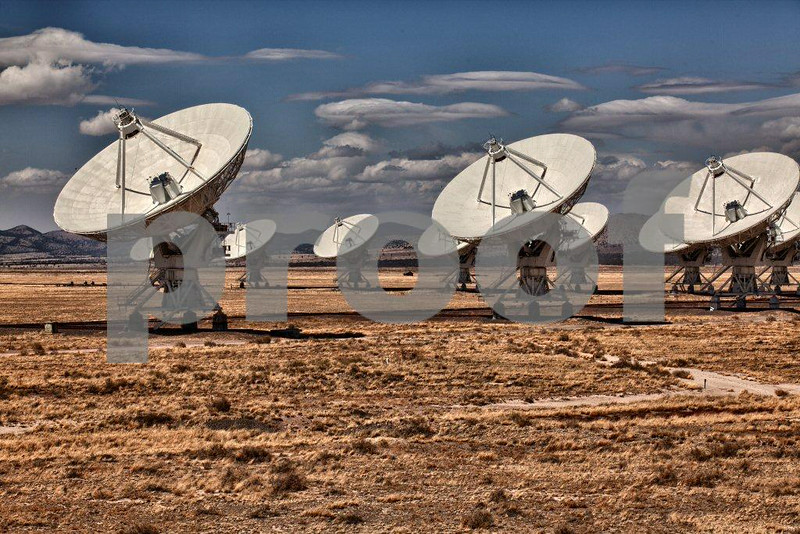 The Very Large Array (VLA) consists of twenty-seven, 230-ton, 25-meter diameter dish antennas that comprise a single radio telescope system used to study objects from the Solar System to the edges of the known Universe. The VLA is located on the Plains of San Augustin, 50 miles west of Socorro, New Mexico, on Route #60.