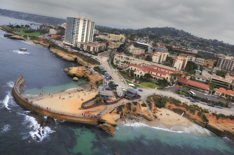 La Jolla from above.  We went up in the Chopper again.