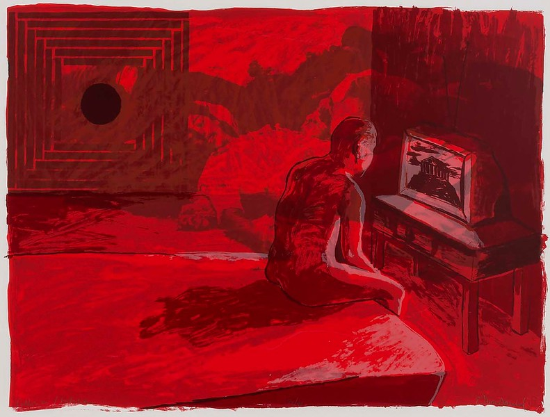 "Ellen MacDonald, ""Collision/Isolation, from The 1986 Lab School Portfolio,"" 1985–1986"