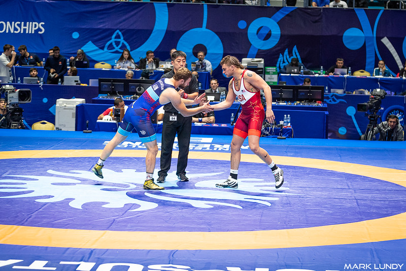 Champ. Round 1: James Patrick Downey Iii (United States) over Hovhannes Mkhitaryan (Armenia)  •  TF 11-1 - 2019 World Championships