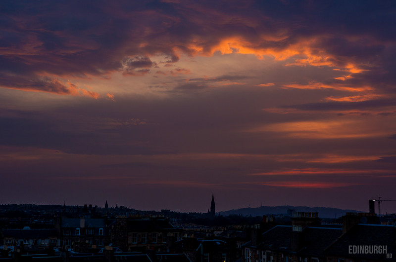 Newington Sunset Edinburgh
