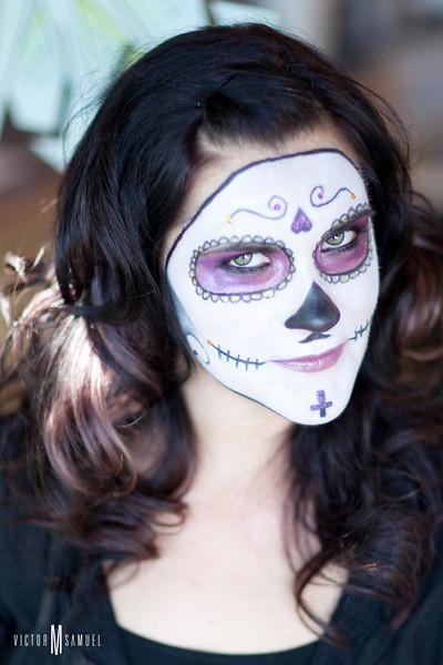Día de los Muertos makeup by Carrie Aldous