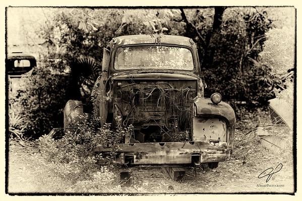 Pickup trucks sepia and Black and White treatment
