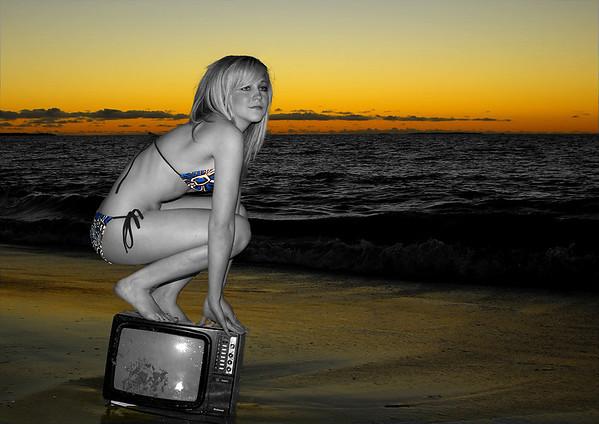 Monique at the Beach