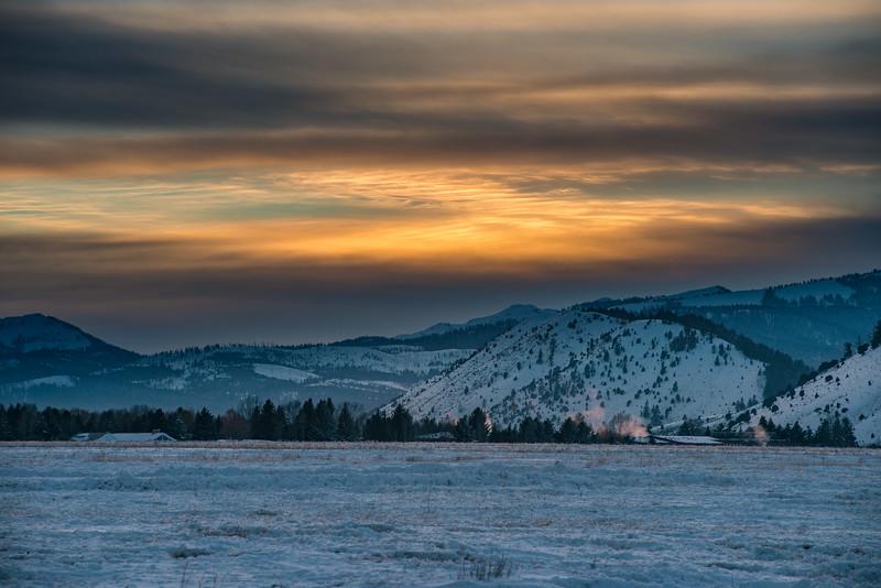Sunset from the National Elk Refuge