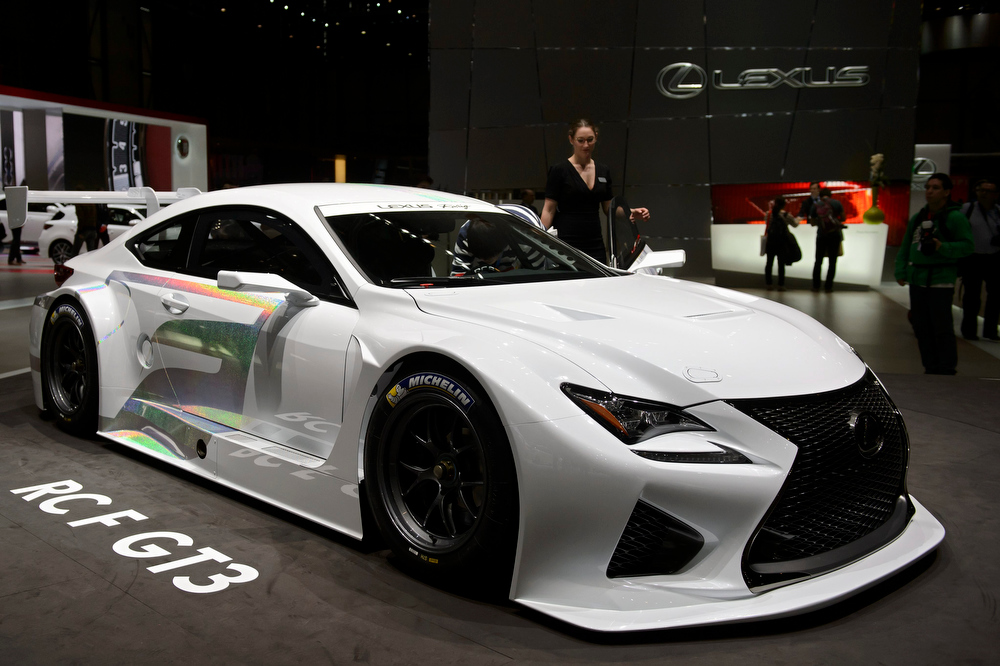 . The new Lexus RC F GT3 is shown during the press day at the 84th Geneva International Motor Show in Geneva, Switzerland, 04 March 2014. The Motor Show will open its gates to the public from 06 to 16 March presenting more than 250 exhibitors and more than 146 world and European premieres.  EPA/SANDRO CAMPARDO