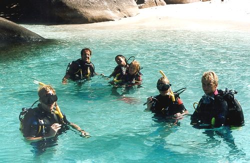 Thailand PADI Divemaster training in the Similan Islands