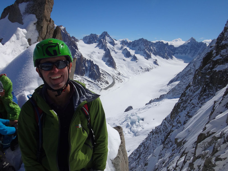 Finally, we made the top of the coulaire! I expected lovely wide rocks to sit on and dreamed of a starbucks with a soy latte… but found instead a knife-edged snow ridge with a 50 foot drop off the other side and nowhere to sit except on the ridge itself, which was very, very narrow...