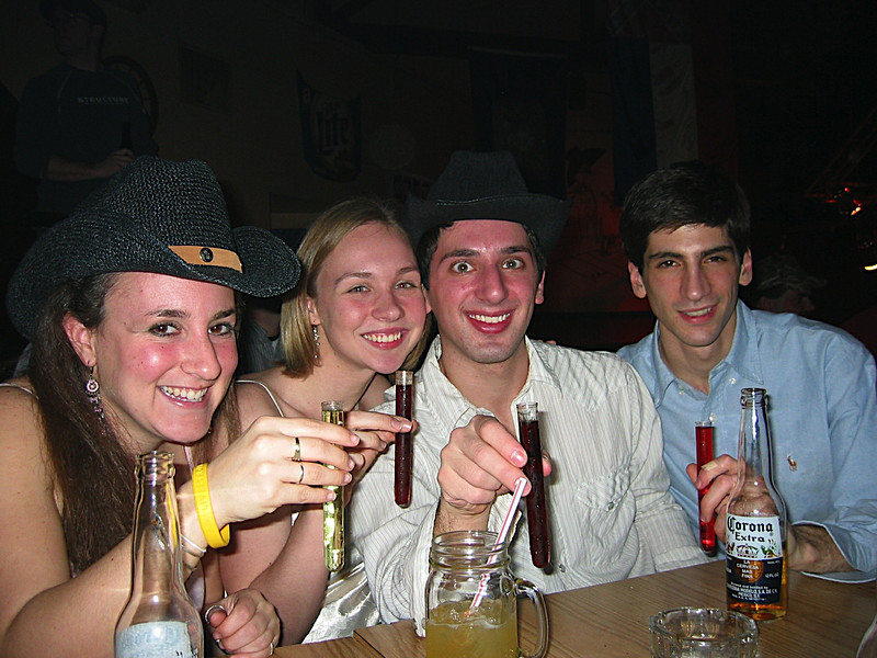 03 - Casey, Julie, Aaron, Dan doing shots.JPG