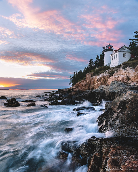 Sunset at Bass Harbor Head Lighthouse