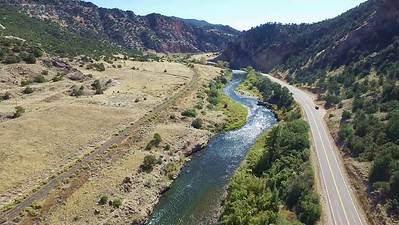 Drones above the Arkansas River in Colorado