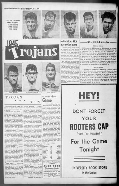 Daily Trojan, Vol. 36, No. 205, September 21, 1945