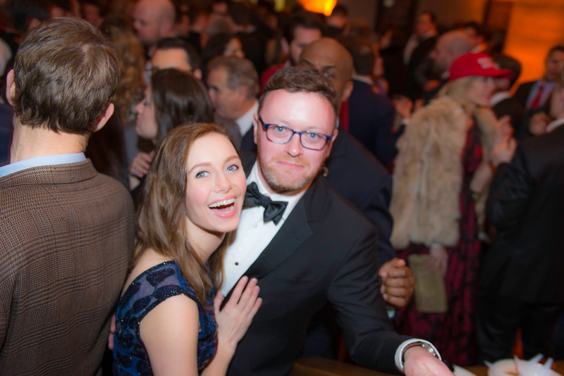 Katie Frates, Chris Bedford,  The Whiskey Ball Inauguration Party, at MXDC, January 20, 2017.  Photo by Ben Droz.