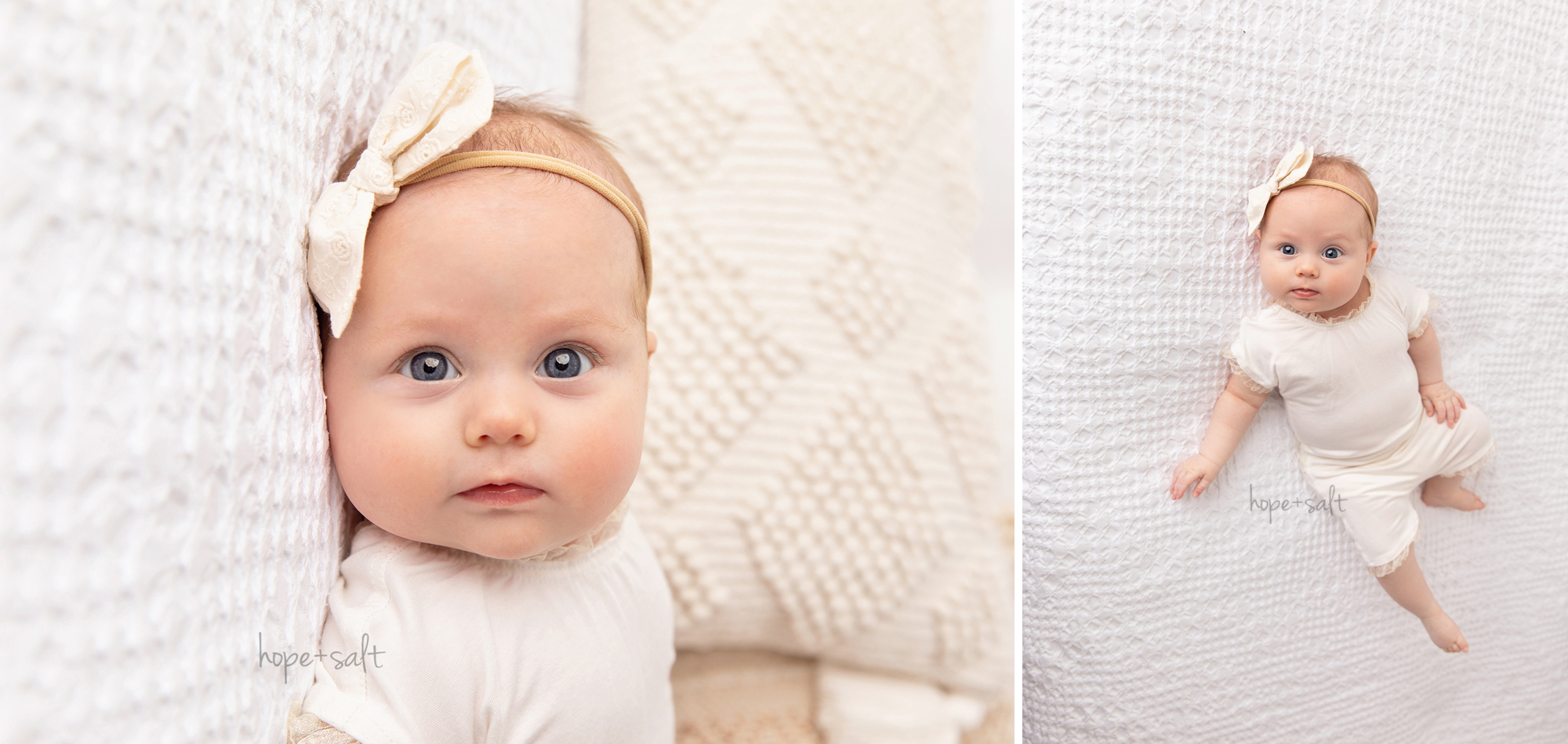 3 month old baby girl s natural studio session with boho style hope and salt oakville ontario newborn photographer