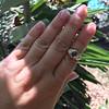 1.75ctw Cab Sapphire and Old European Cut Diamond 3-stone Ring 24