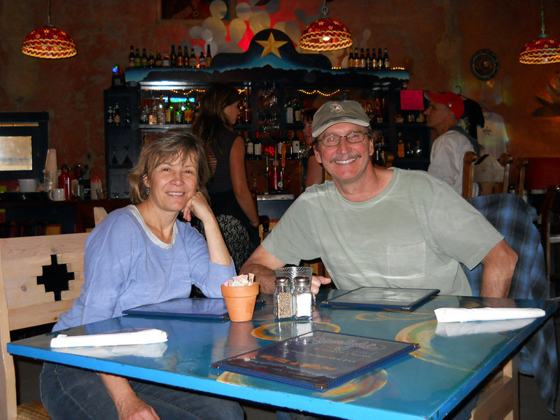 THE END TO A PERFECT DAY Lani and Dale in anticipation of a round of burgers to re-stoke the fires.