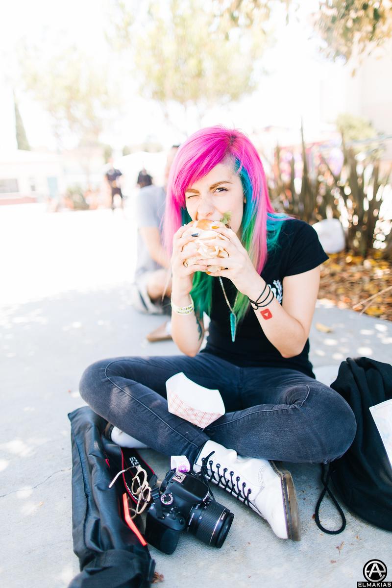 Miranda + Portabello burger = :)