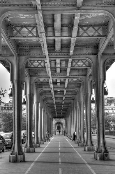 Under the Bir Hakeim Bridge