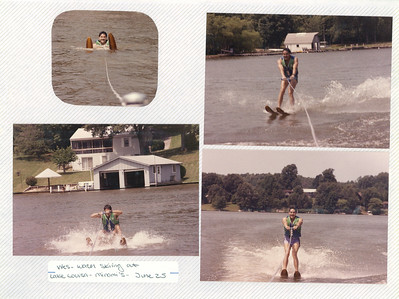 6-25-1988 Wes Kam Water skiing @ Lake Louisa-Minami's