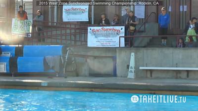 E07 - Senior Free Duet - 2015 Western Zone Synchronized Swimming Championships - Livesynchro Powered by: Takeitlive.tv