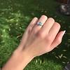 1.73ctw Blue Marquise Cut Diamond Trilogy Ring 15