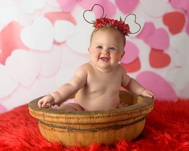 Ayssa  Jensema 6 mo - valentines & 6 month