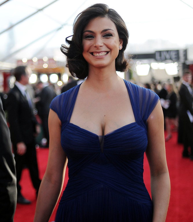 . Morena Baccarin on the red carpet at the 20th Annual Screen Actors Guild Awards  at the Shrine Auditorium in Los Angeles, California on Saturday January 18, 2014 (Photo by Hans Gutknecht / Los Angeles Daily News)