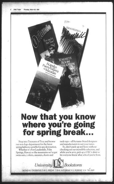 Daily Trojan, Vol. 111, No. 53, March 29, 1990