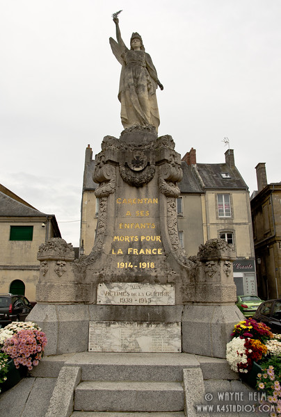WW I Monument in Normandy    Photography by Wayne Heim