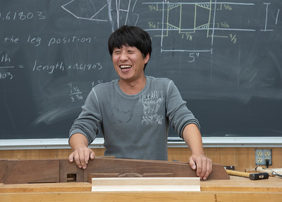 Make a Nakashima Inspired Sitting Bench/Coffee Table with Taeho Kwon