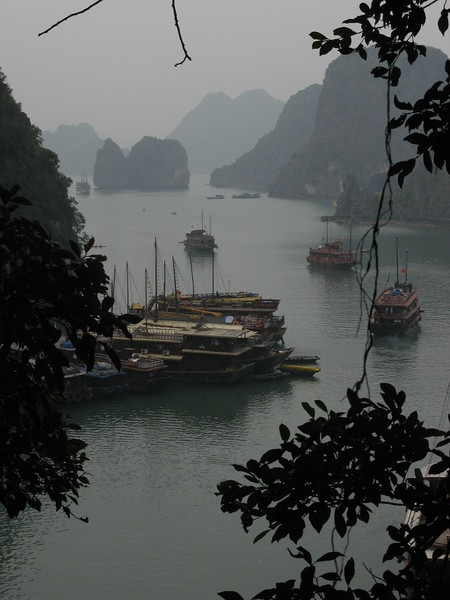 Halong Bay from another location at the cave.