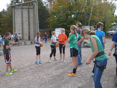 8th grade PE field trip at Northern Lights ropes course 2013