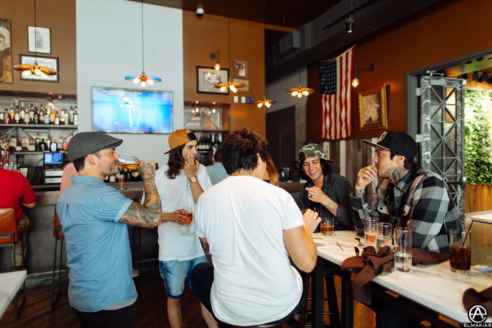 Pierce The Veil and Sleeping With Sirens out for lunch