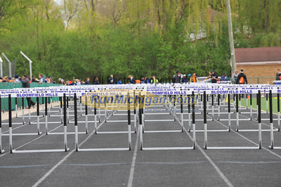 Boys and Girls 110 Hurdle Finals - 2014 MHSAA Region 9-1 (Bloomfield Hills)