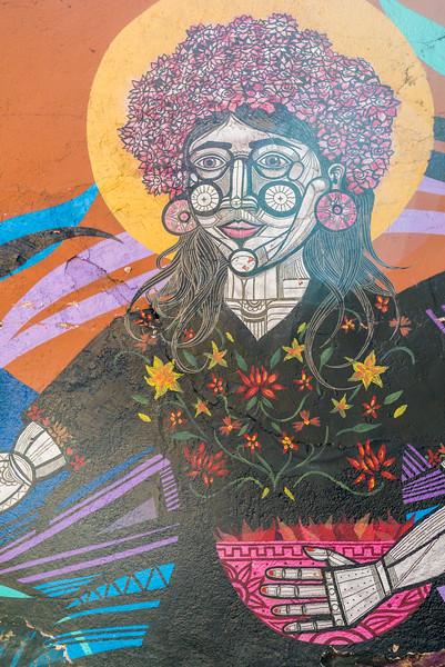 Colorful graffiti in Oaxaca Centro