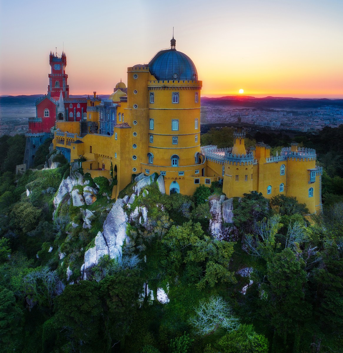 Pena Palace from the Air